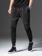 Pencil Pants Lace-Up Men's Casual Pants