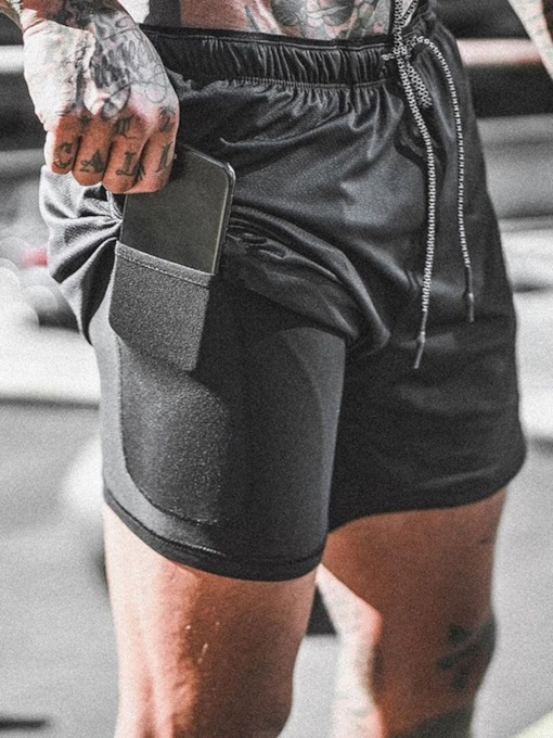 Slim Low Waist Men's Shorts