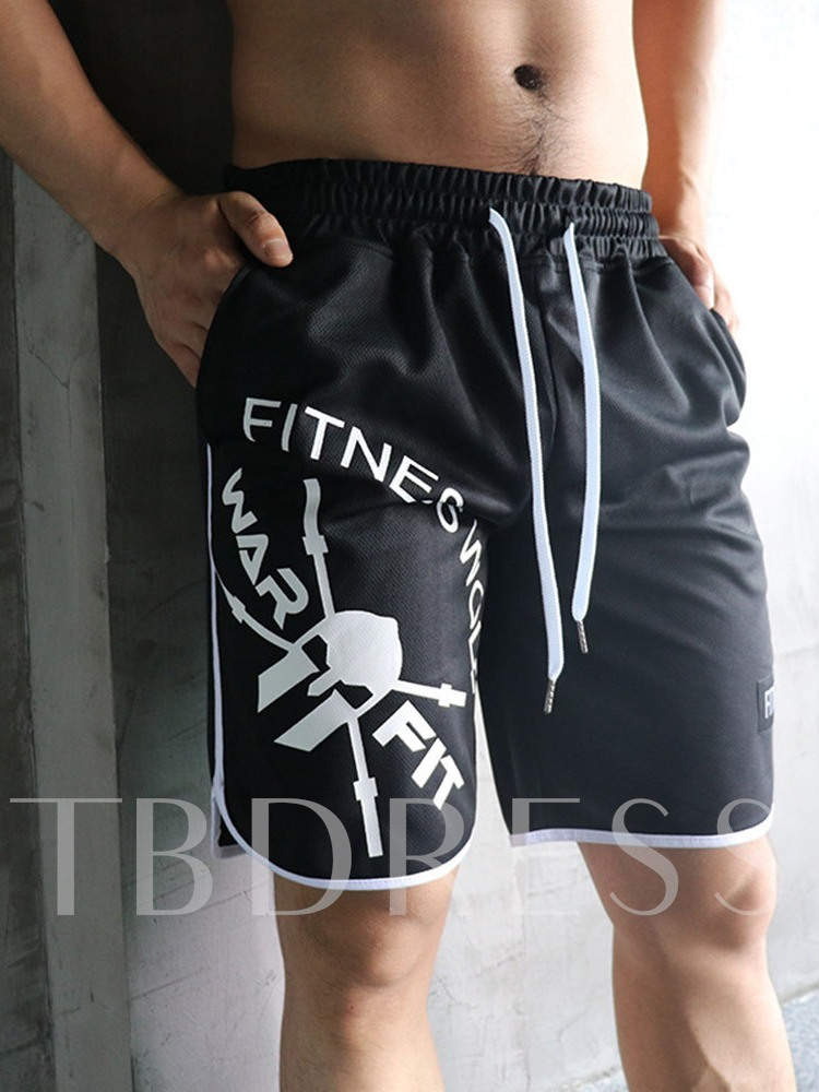 Loose Print Letter Casual Men's Shorts