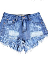 Tassel Zipper Women's Shorts
