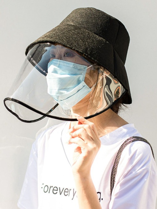 Protective Headwear Screen Anti-Epidemic Mask Fisherman's Cap Face Protection