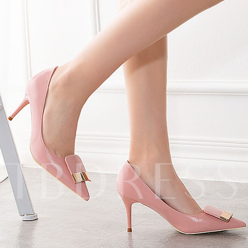 Stiletto Heel Slip-On 3D Pointed Toe Casual Thin Shoes