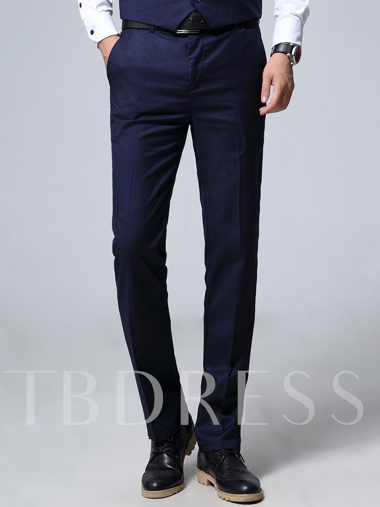 Plain Single-Breasted Fashion Blazer Men's Dress Suit