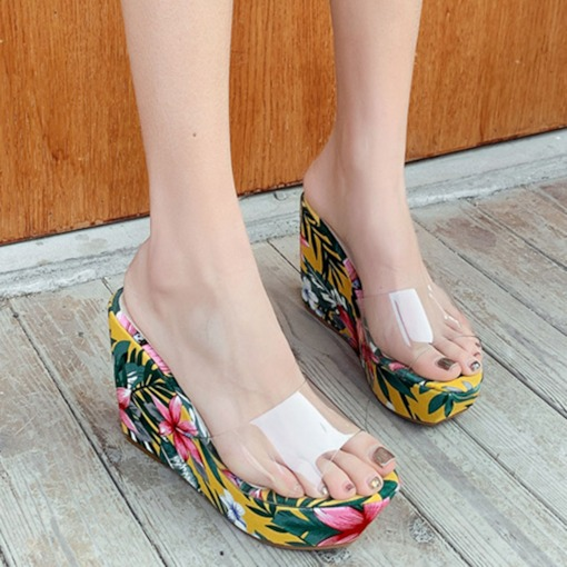 Flip Flop Slip-On Platform Wedge Heel Casual Slippers