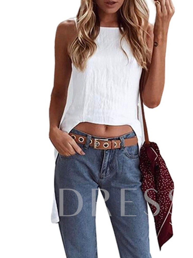Polyester Casual Mid-Length Elegant Women's Tank Top