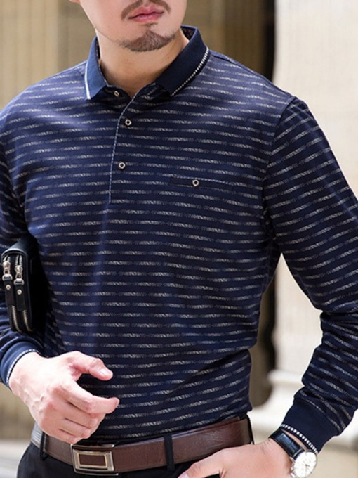 Print Polo Neck Casual Men's Polo Shirt