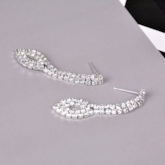 Romantic Diamante Earrings Prom Jewelry Sets