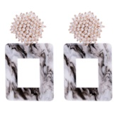 Pearl Inlaid Vintage Acrylic Party Earrings