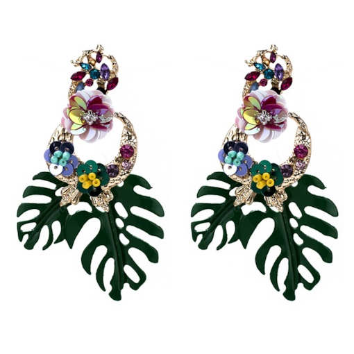 Alloy Floral Bohemian Wedding Earrings