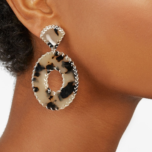 Acrylic Leopard European Party Earrings