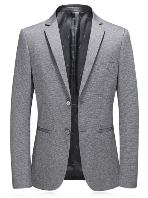 Formal Single-Breasted Slim Plain Men's Blazer