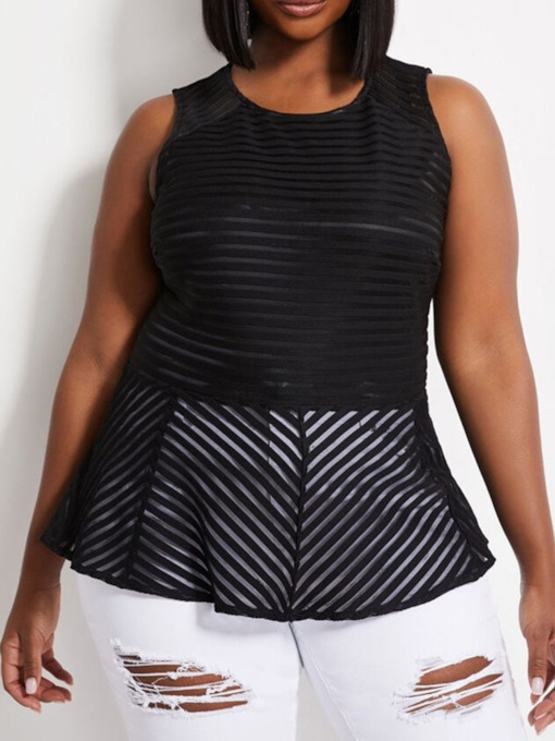 Plus Size I-Shaped Polyester Standard Women's Tank Top