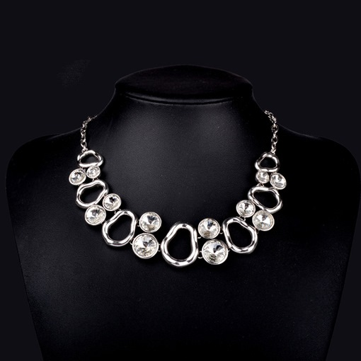 Crystal Inlaid Romantic Pendant Necklace Female Necklaces
