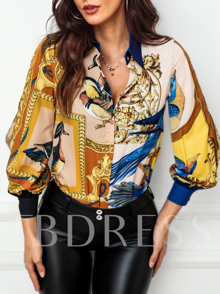 African Fashion Dashiki Print Nine Points Sleeve Casual Women's Blouse