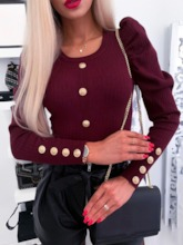 Long Sleeve Slim Pullover Casual Women's Sweater