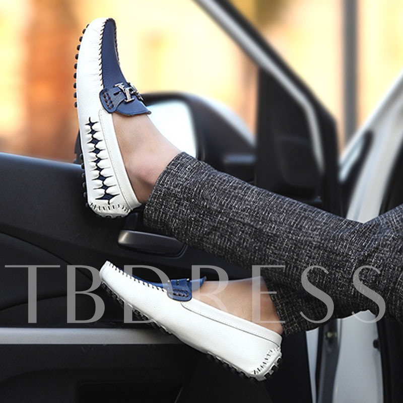 Flat Heel Color Block Slip-On Low-Cut Upper Round Toe Thin Shoes