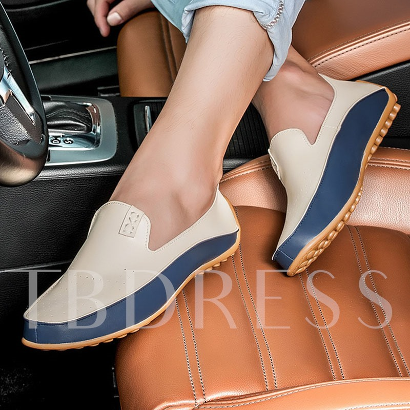 Patchwork Low-Cut Upper Slip-On Flat Heel PU Thin Shoes