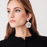 Diamante Floral Sweet Party Earrings
