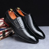 Low-Cut Upper Plain Flat With PU Leather Shoes
