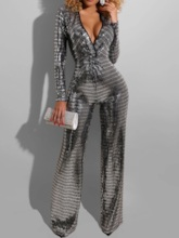 Full Length Party/Cocktail Sequins Straight Women's Jumpsuit