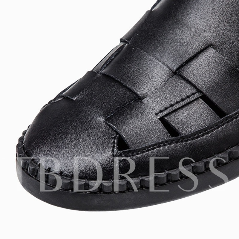 Low-Cut Upper Slip-On Plain Flat Heel Round Toe Thin Shoes
