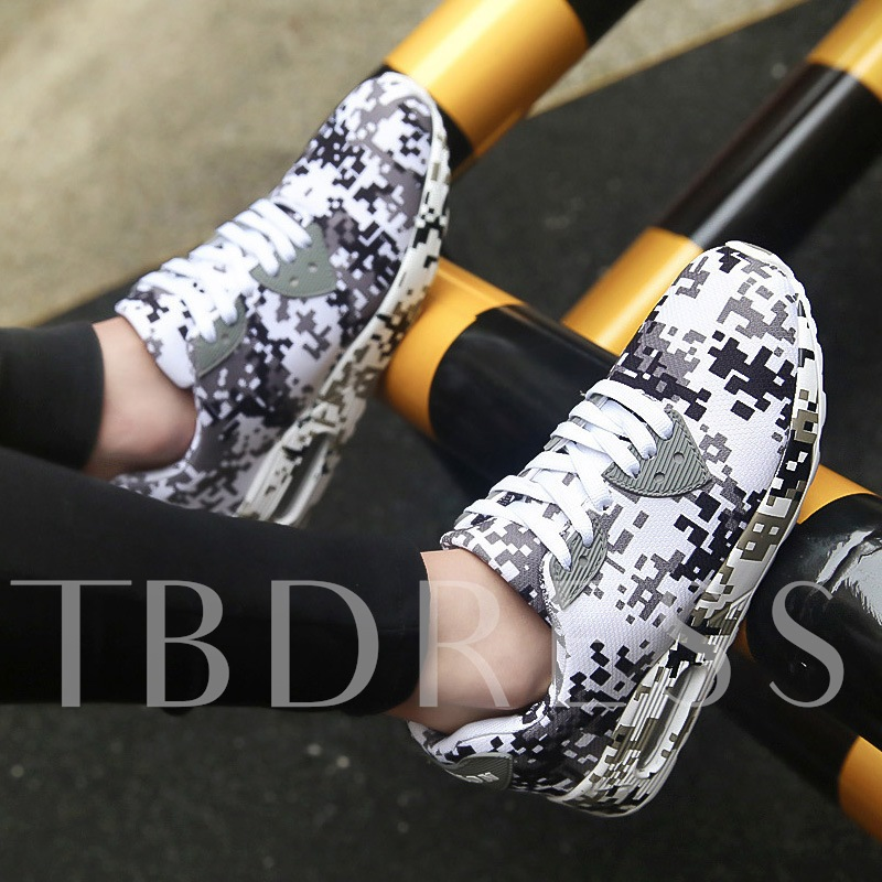 Platform Low-Cut Upper Lace-Up Mesh Sneakers