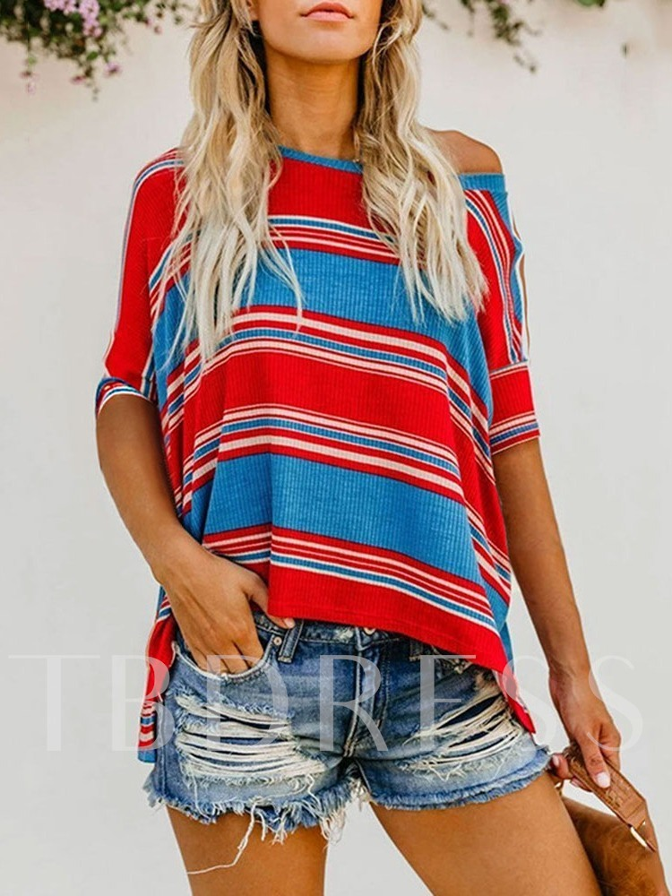 Mid-Length Half Sleeve Loose Casual Women's T-Shirt
