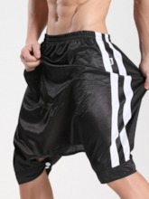 Loose Baggy Pants Stripe Elastics Men's Shorts