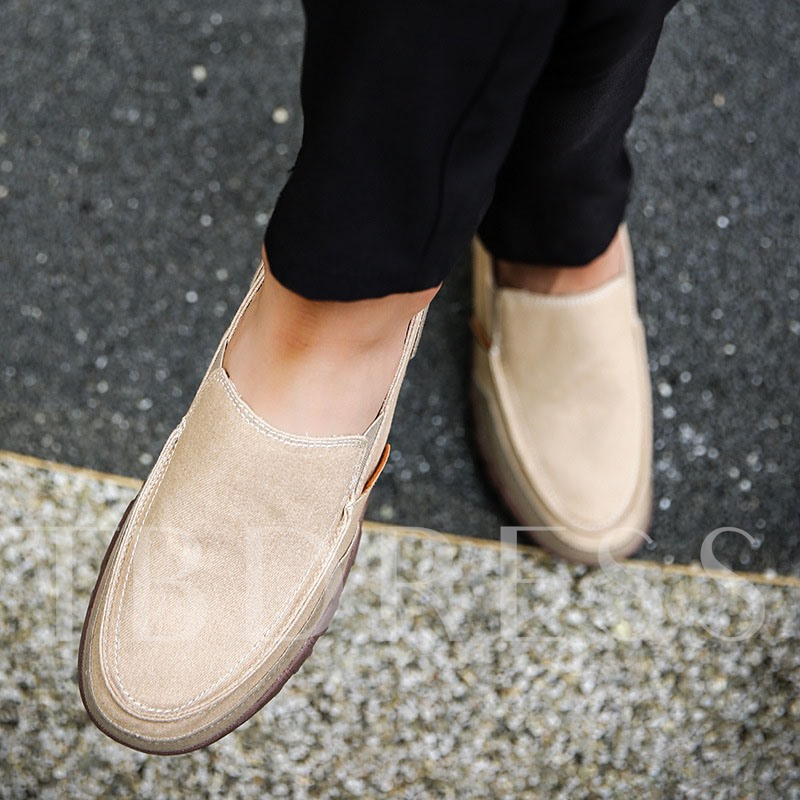 Leisure Flat Heel Low-Cut Upper Slip-On Plain Round Toe Thin Shoes