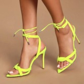 Zipper Pointed Toe Stiletto Heel Casual Sandals