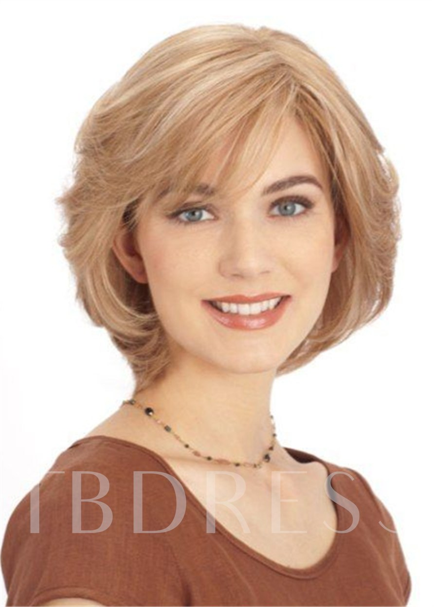 Synthetic Hair Capless Natural Straight 12 Inches Wigs
