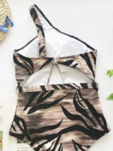 One Piece Irregular Vintage Women's Swimwear