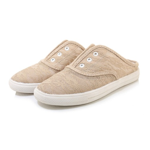 Flat With Slip-On Round Toe Thread Low-Cut Upper Thin Shoes