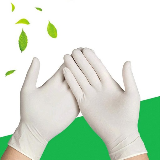 Disposable Powderless Latex Protective Gloves Thickened Industrial Tattoo Dental Powder White Latex Gloves