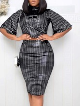 Shirt Sequins Western Stand Collar Women's Two Piece Sets