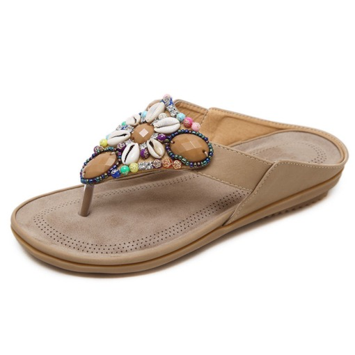 Flat With Slip-On Thread Thong Casual Slippers