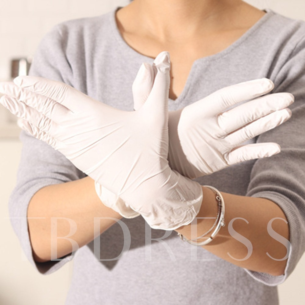 Disposable Latex Gloves Grade A Thickening 9 Inches Check Glove Test