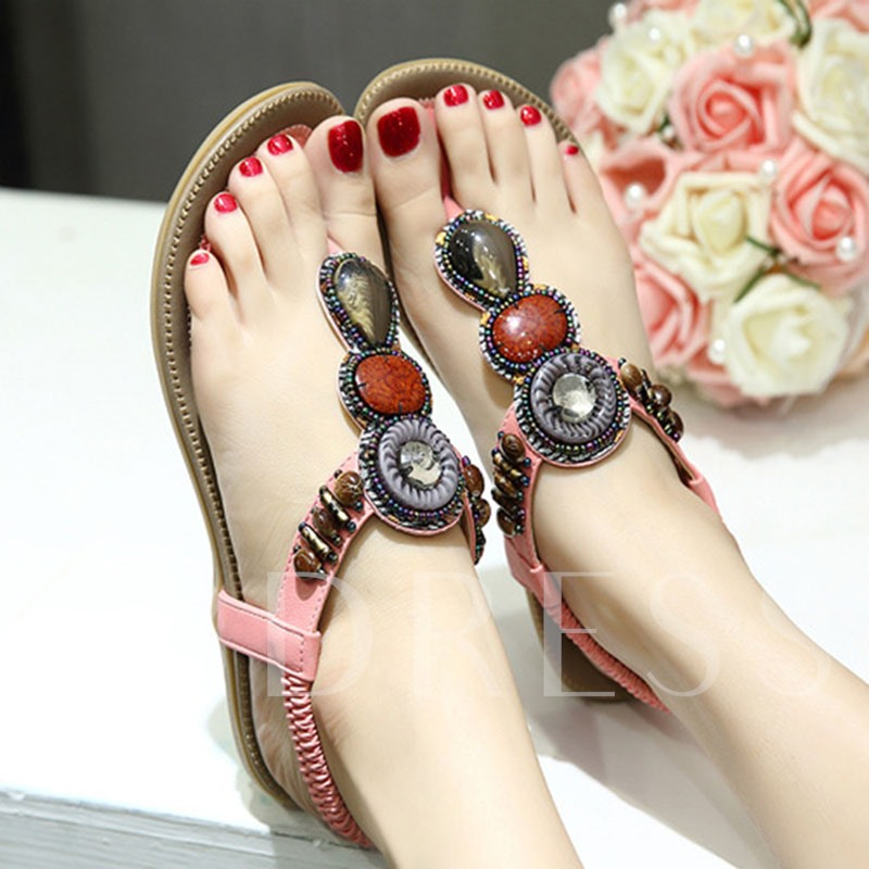 Thong Slip-On Flat With Low-Cut Upper Sandals
