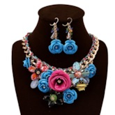 Necklace Floral Handmade Anniversary Jewelry Sets
