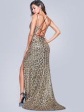 Trumpet/Mermaid Print Court Floor-Length Evening Dress 2020