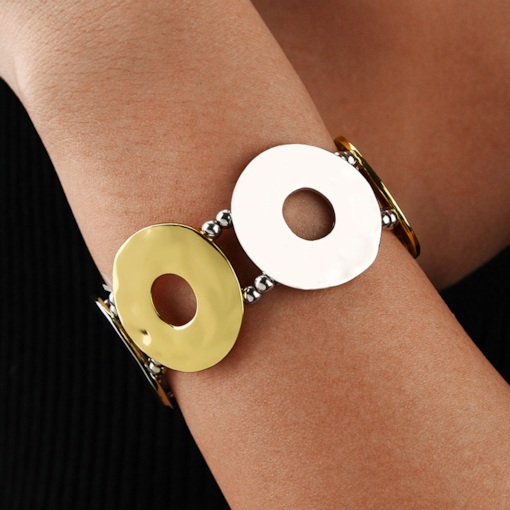 Color Block Vintage E-Plating Female Bracelets