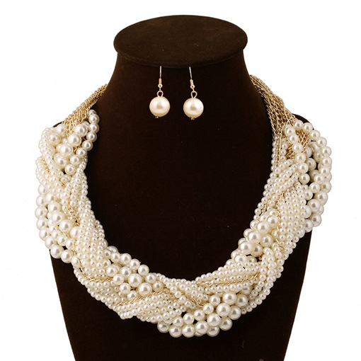 Romantic Earrings Woven Engagement Jewelry Sets