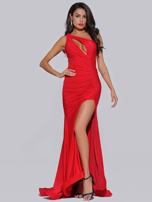 Sleeveless Trumpet/Mermaid Floor-Length Hollow Evening Dress 2020