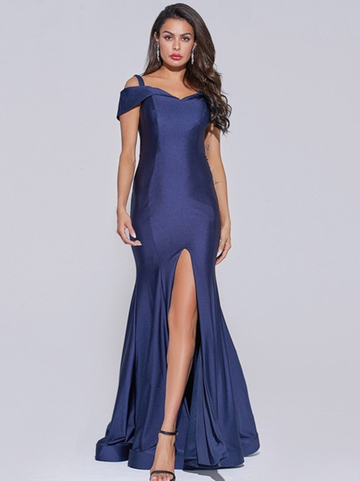 Court Trumpet/Mermaid Floor-Length Split-Front Evening Dress 2020