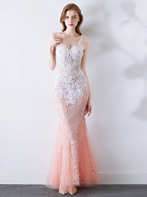 Sleeveless Sweep/Brush Trumpet/Mermaid Beading Prom Dress 2020