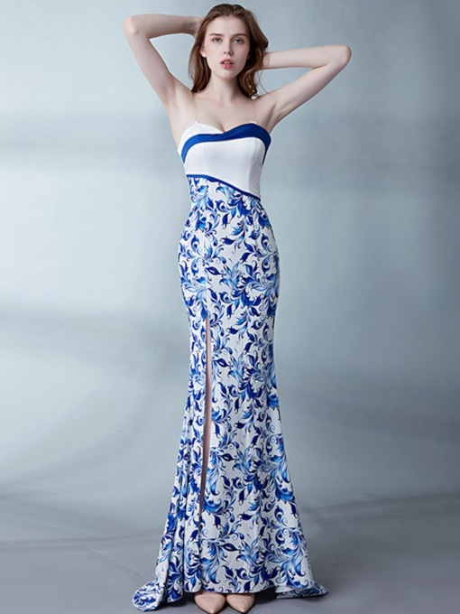 Sleeveless Trumpet/Mermaid Court Floor-Length Evening Dress 2020