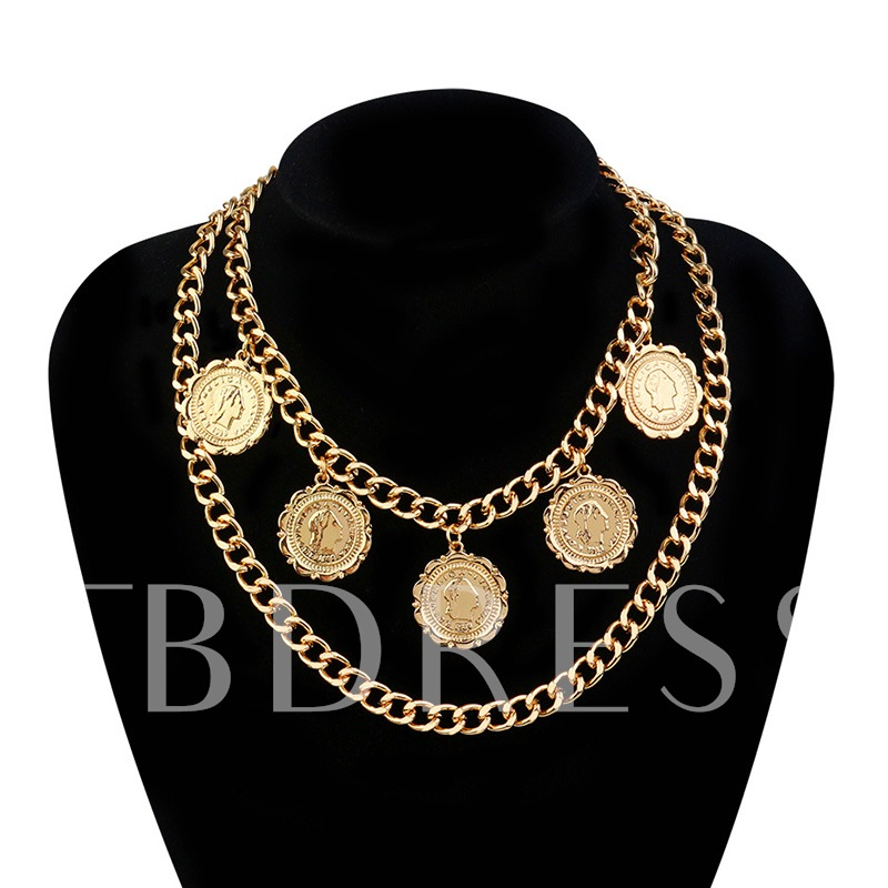 Fashion Pendant Necklace Vintage E-Plating Female Necklaces