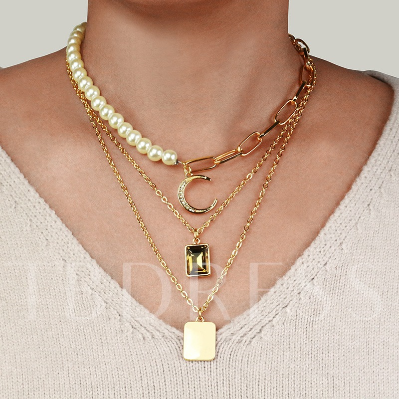 E-Plating Sweet Pendant Necklace Female Necklaces