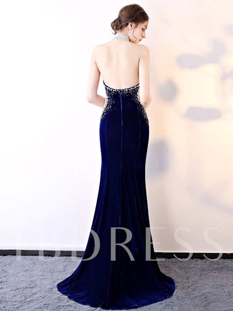 Trumpet/Mermaid Floor-Length Court Sleeveless Evening Dress 2020