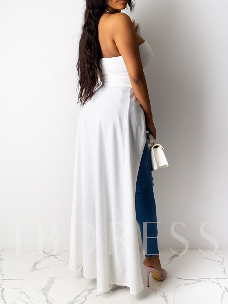 Off Shoulder Sexy Polyester Long Casual Women's Tank Top